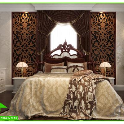 Thiết kế nội thất phòng ngủ biệt thự tân cổ điển anh Đạt An Giang