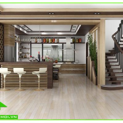 Nội thất phòng bếp biệt thự vườn anh Tuấn Kiệt