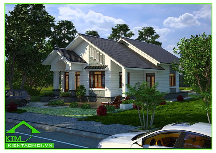 Thiết kế biệt thự vườn đơn giãn, tinh tế tại phường Lộc Sơn, Bảo Lộc, Lâm Đồng