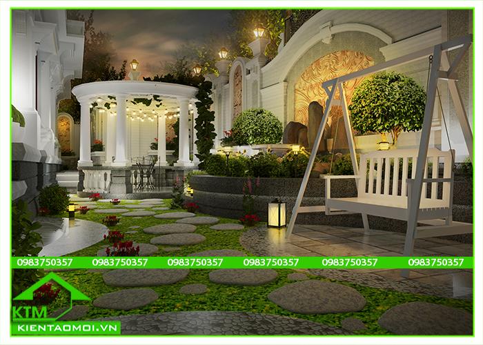 Thiết kế sân vườn tiểu cảnh KTM Đà Lạt, Bảo Lộc